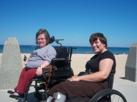 Jodi and Ramona at the Beach